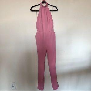 One Fifty Third Pink Halter Jumpsuit Size 2